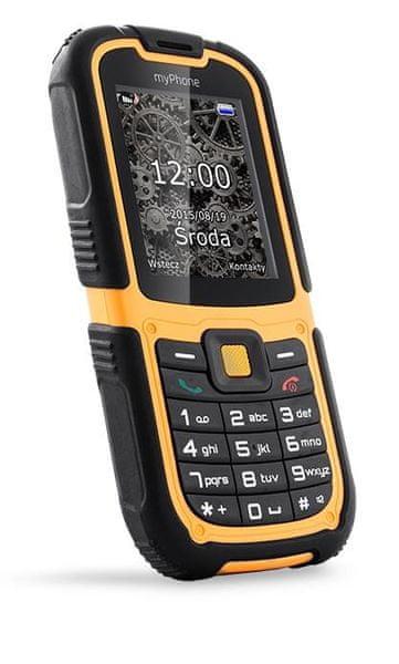 myPhone HAMMER 2, DualSIM, oranžový černý