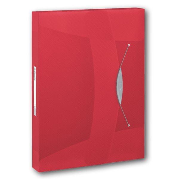 Box na spisy Esselte VIVIDA červený