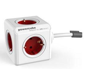 PowerCube razdelilec s podaljškom, rdeč, 3 m