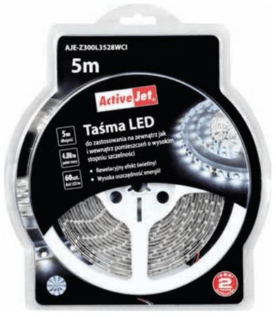 ActiveJet LED trak za notranjo uporabo, 5 m, hladna svetloba
