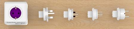 Allocacoc PowerCube razdelilec USB z nastavki (potovalni adapter)