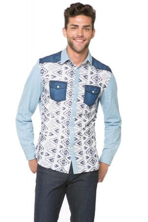 Desigual pánská košile M modrá