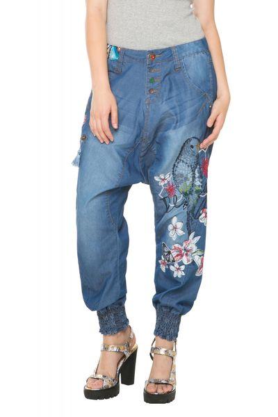 Desigual dámské kalhoty 27 modrá