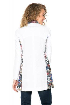 Desigual dámský kabát 38 bílá  ca68c2ed34