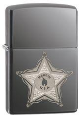 Zippo vžigalnik 28360 Skull Badge, black ice