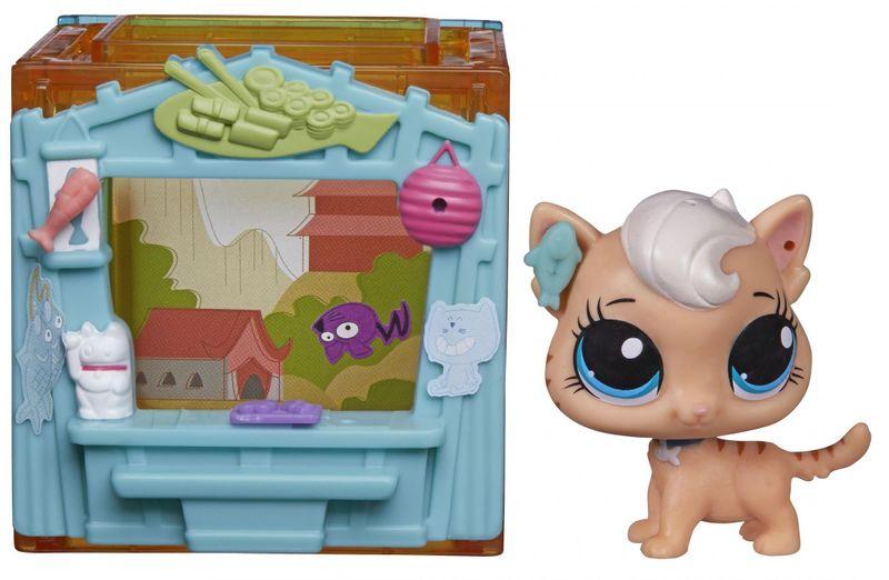 Littlest Pet Shop Zvířátko s mini domečkem Meow Milkone