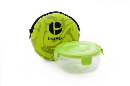 Prêt à Paquet posoda za prigrizek, z etuijem zelena