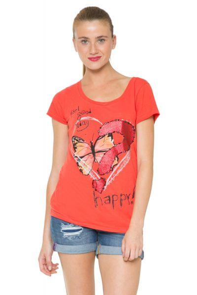 Desigual dámské tričko S červená