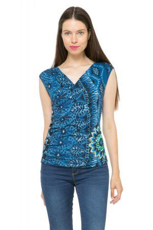 Desigual T-shirt damski L niebieski