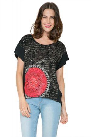 Desigual dámské tričko s mandalou S černá