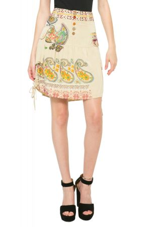 Desigual dámská sukně 38 béžová