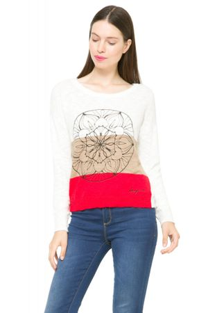 Desigual dámský svetr M bílá