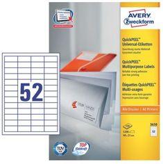 Avery Zweckform etikete 3650, 48 x 21 mm, bele