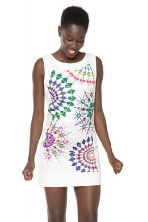 Desigual dámské šaty s potiskem 40 bílá