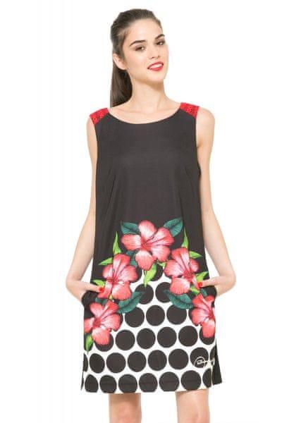 Desigual dámské šaty na zip 38 černá