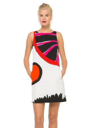 Desigual dámské bavlněné šaty 40 vícebarevná