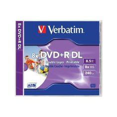 Verbatim DVD+R Dual Layer mediji 8,5 GB, 8x InkJet JC-1