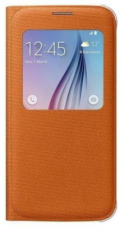 Samsung etui S View Cover do Galaxy S6, pomarańczowe  (EF-CG920BOEGWW)