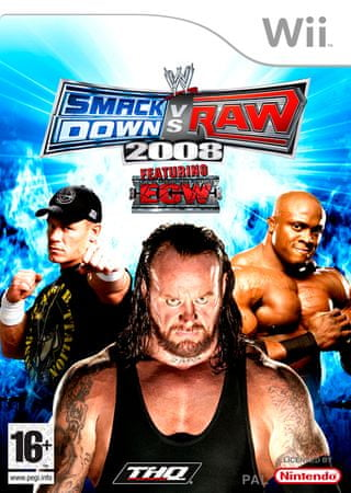THQ WWE Smackdown! vs. Raw 2008 (WII)