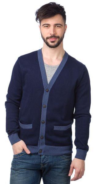 Chaps pánský svetr na knoflíky S modrá