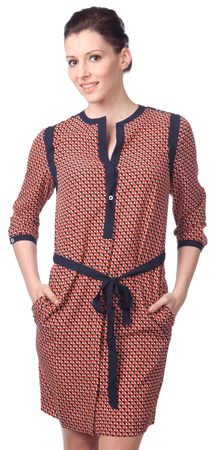 Nautica dámské vzorované šaty L červená