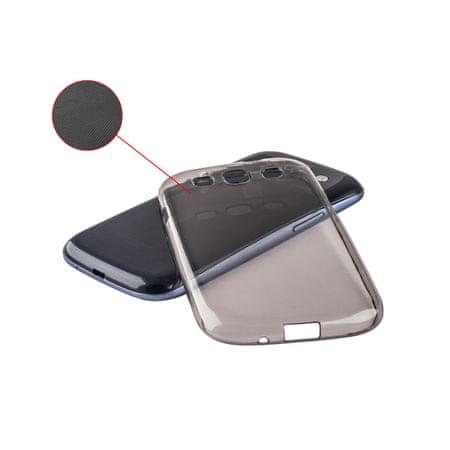 ultra tanek silikonski ovitek za Samsung Galaxy S6 Edge+ G928, prozorno črn