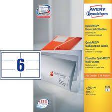 Avery Zweckform etikete 6132, 97 x 42,3 mm (A5)