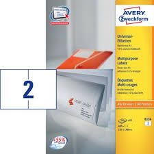 Avery Zweckform etikete 6134, 105 x 148 mm (A5)