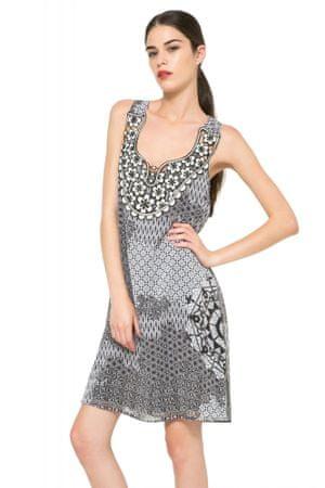 Desigual ženska obleka 38 siva