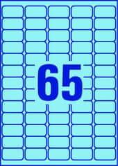 Avery Zweckform barvne etikete L4791-20, 38,1 x 21,2 mm, modrebarvne etikete L4791-20, 38,1 x 21,2 mm, modre
