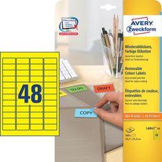 Avery Zweckform barvne etikete L6041-20, 38,1 x 21,2 mm, rumene