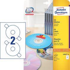 Avery Zweckform etikete L6043-25, Ø 117 mm, za CD