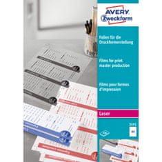 Avery Zweckform folije za tiskarske predloge 3491, 210 x 297 mm, 100 listov