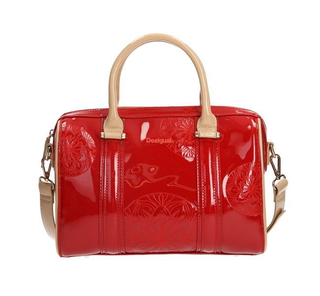 Desigual lesklá červená kabelka