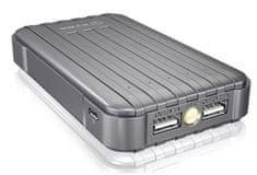 IcyBox powerbank prijenosna baterija, 13.000 mAh IB-PBb13000