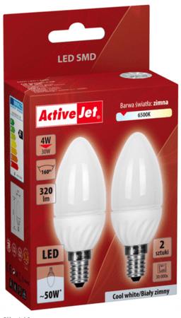 ActiveJet LED žarnica, 4 W, E14, hladna svetloba