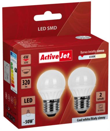 ActiveJet LED sijalka, 4 W, E27, hladna svetloba