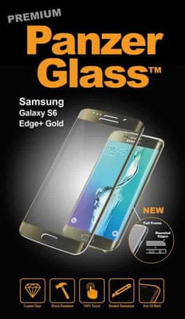 PanzerGlass premium zaščitno steklo Samsung Galaxy S6 Edge +, zlata
