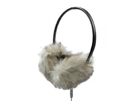 Naušniki s slušalkami, siva/črna