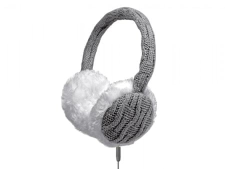 Naušniki s slušalkami, bela/siva