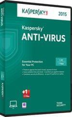 Kaspersky Anti-Virus 1-letna lic. za 3 delovne postaje + 3 mesece GRATIS