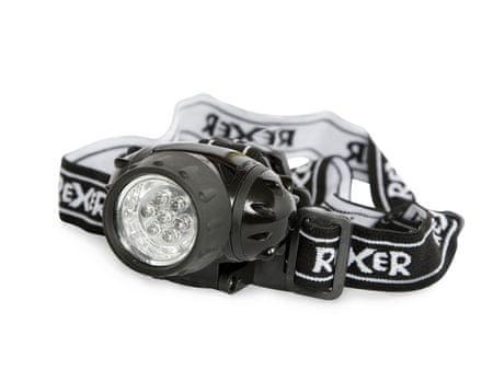 Rexer naglavna svetilka 7LEDs 3AAA, oranžna RX1014#01105