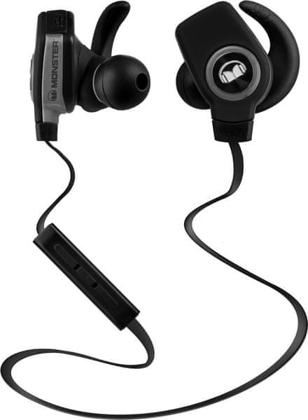 Monster iSport Bluetooth Wireless SuperSlim In Ear, černá