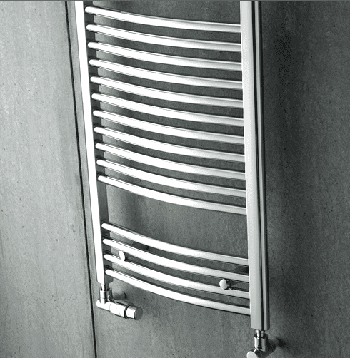 Zehnder AURA PBTCZ-180-060-05 1856x600mm chrom, prohnuté, středové připojení