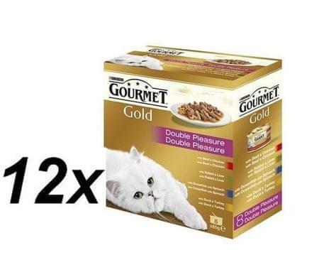 Gourmet mokra karma dla kota Gold Double Pleasure 12x (8 x 85g)