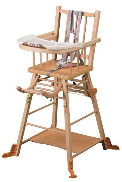 Candide Rozkládací jídelní židlička Combelle natural