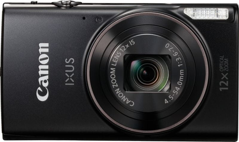 Canon IXUS 285 HS Black + 500 Kč na fotoslužby
