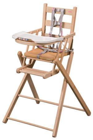 Candide Skládací jídelní židlička Combelle natural