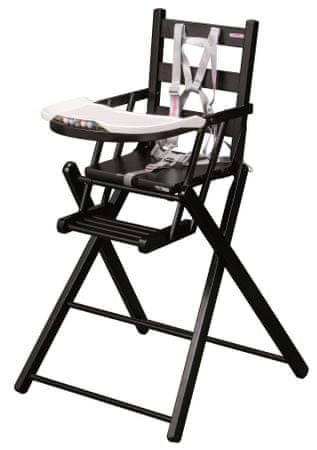 Candide Skládací jídelní židlička Combelle černá