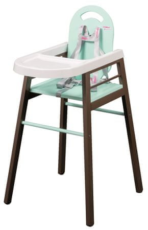 Candide Krzesełko do jedzenia Combelle Lili brązowo-zielone